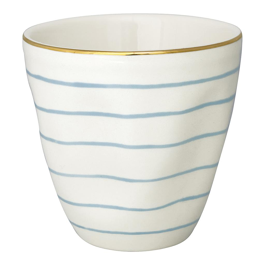 Latte Cup Sally pale blue w/ gold