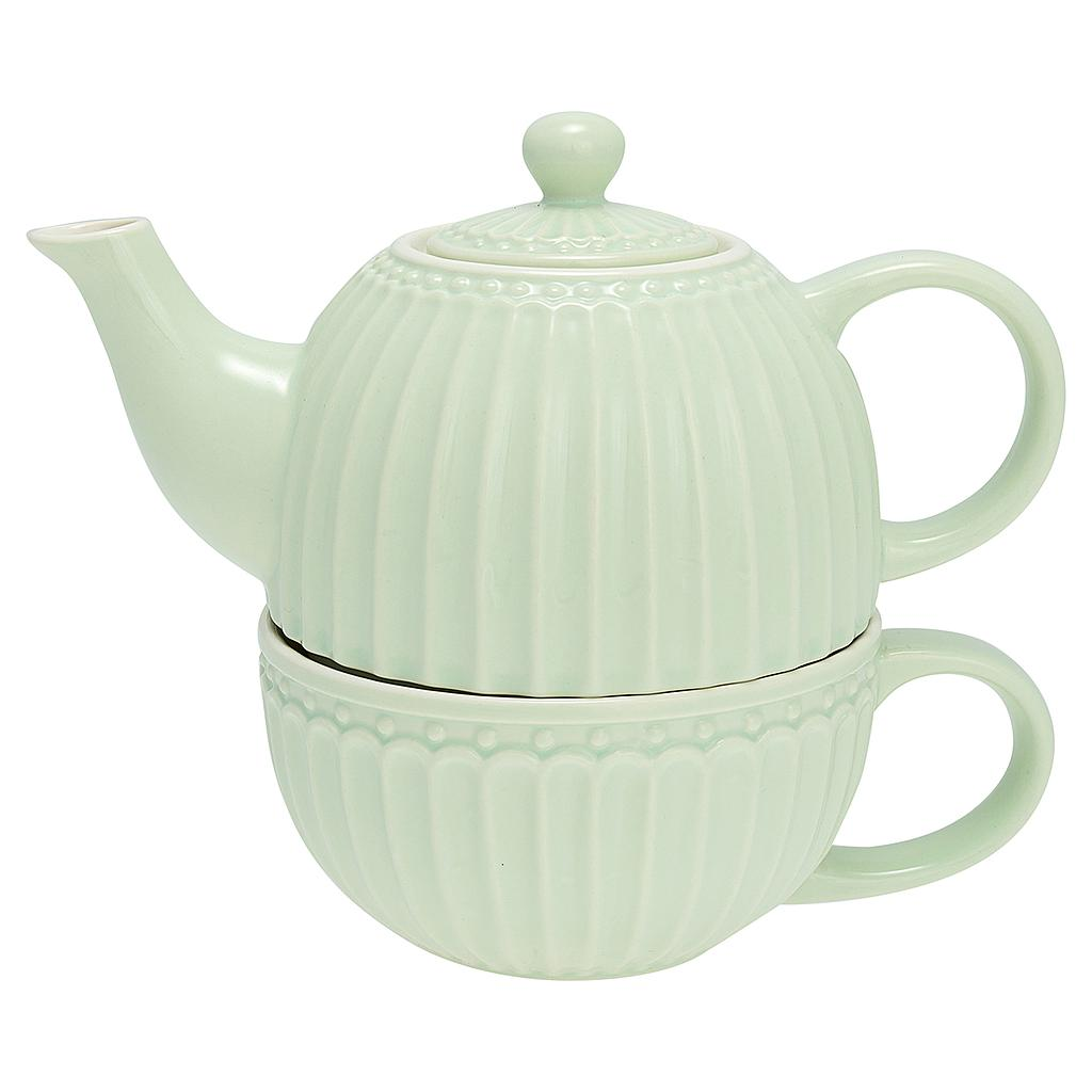 """Tea for one"" Teekanne und Tasse Alice pale green"