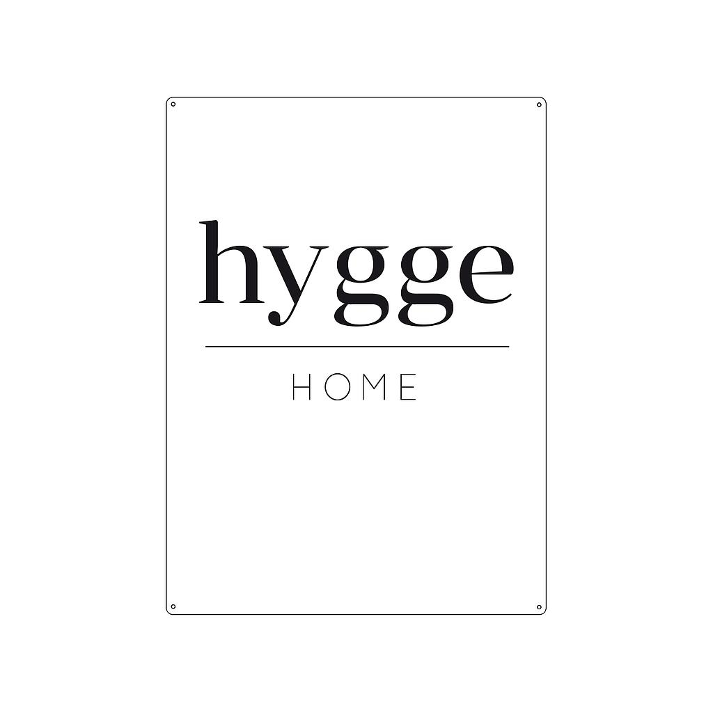 Metallschild HYGGE HOME
