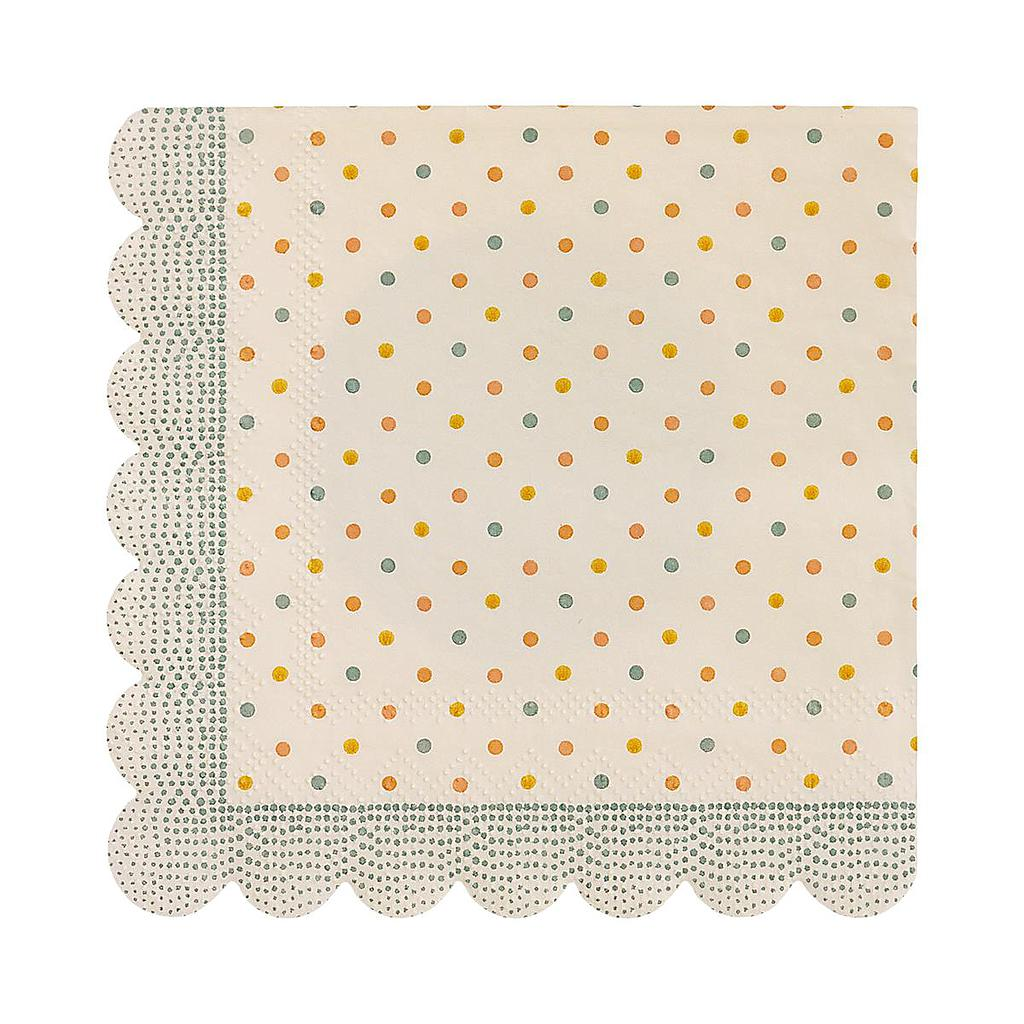 Cocktailservietten Multi dots